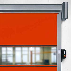 Скоростные ворота Hormann серии V 2012 для внутреннего применения без ветрозащиты.