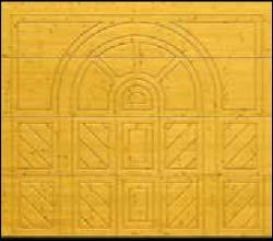 Деревянные секционные ворота Hormann LTH 40 серии Design мотив 404