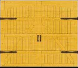 Деревянные секционные ворота Hormann LTH 40 серии Design мотив 405 с декоративными накладками