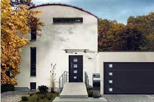 Стальные секционные ворота Hormann серии Design (цвет СН 703б антрацит)