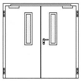 Противопожарные двери Hormann H16: Остекление Тип 1