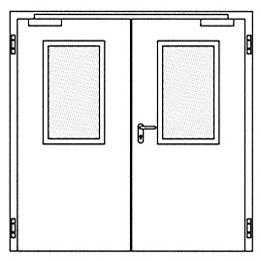 Противопожарные двери Hormann H16: Остекление Тип 2