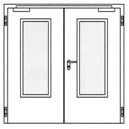 Противопожарные двери Hormann H16: Остекление Тип 3