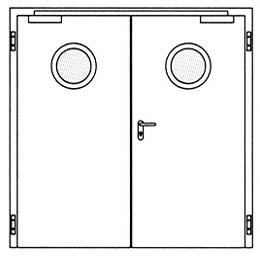 Противопожарные двери Hormann H16: Круглое остекление