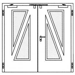 Противопожарные двери Hormann H16: специальное остекление