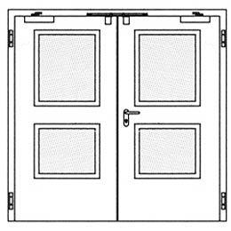 Противопожарные двери Hormann H16: специальное прямоугольное остекление
