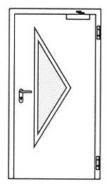 Противопожарные двери Hormann H16: специальное треугольное остекление