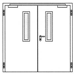 Дымозащитные двери Hormann RS 55: Остекление Тип 1