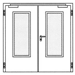 Дымозащитные двери Hormann RS 55: Остекление Тип 3