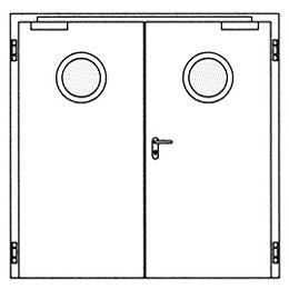 Противопожарные двери Hormann H3: Круглое остекление