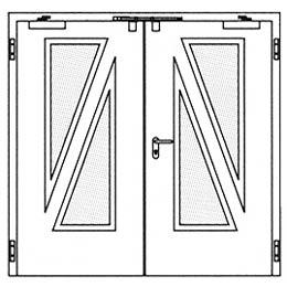 Дымозащитные двери Hormann RS 55: специальное остекление