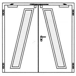 Противопожарные двери Hormann H3: специальное остекление