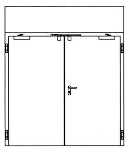 Противопожарные двери Hormann H3: глухая верхняя часть непрозрачная