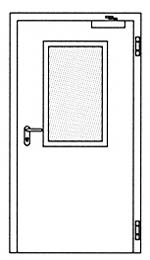 Противопожарные двери Hormann H3: Остекление Тип 2