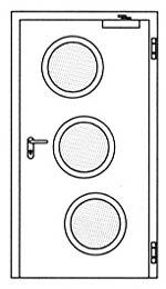 Противопожарные двери Hormann H3: специальное круглое остекление