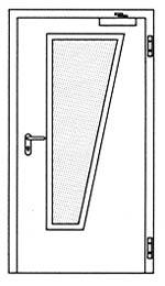 Противопожарные двери Hormann H3: специальное трапецивидное остекление