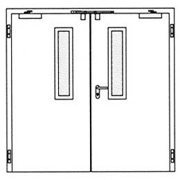 Противопожарные двери Hormann H3-D: Остекление Тип 1.