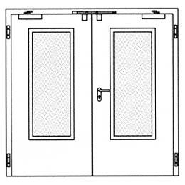 Противопожарные двери Hormann H3-D: Остекление Тип 3