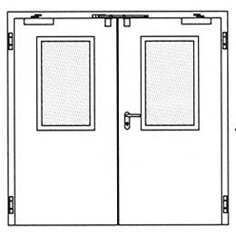 Противопожарные двери Hormann H3-D: Остекление Тип 2