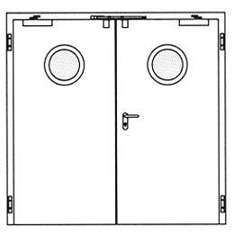 Противопожарные двери Hormann H3-D: Круглое остекление