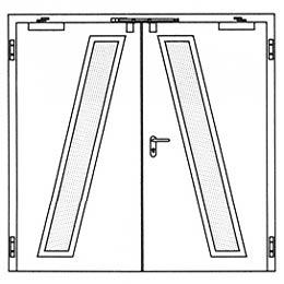 Противопожарные двери Hormann H3-D: специальное остекление