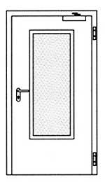 Противопожарные двери Hormann H3-D: Остекление Тип 3.