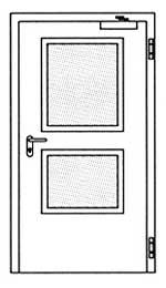 Противопожарные двери Hormann H3-D: специальное прямоугольное остекление