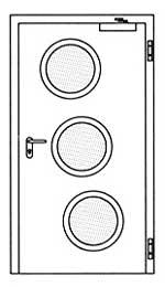 Противопожарные двери Hormann H3-D: специальное круглое остекление