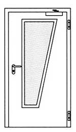 Противопожарные двери Hormann H3-D: специальное трапецивидное остекление