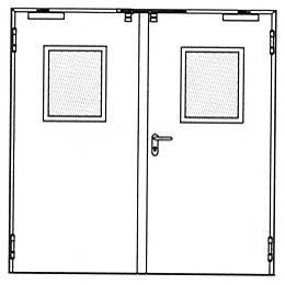 Противопожарные двери Hormann HG 26: Остекление стандартное.