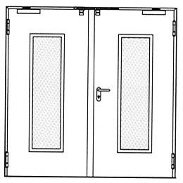 Противопожарные двери Hormann HG 26: Остекление по выбору