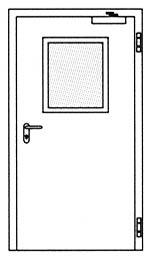 Противопожарные двери Hormann HG 27: Стандартное прямоугольное остекление
