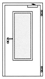 Противопожарные двери Hormann HG 27: Остекление прямоугольное