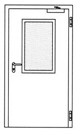 Дымозащитные двери Hormann RS 55: Остекление Тип 2