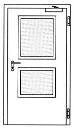 Дымозащитные двери Hormann RS 55: специальное прямоугольное остекление