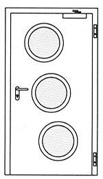 Дымозащитные двери Hormann RS 55: специальное круглое остекление