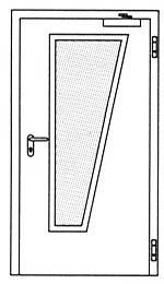 Дымозащитные двери Hormann RS 55: специальное трапецивидное остекление