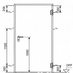 Противопожарные двери Hormann (Херман)  серии HRUS 60 С-1 общий вид