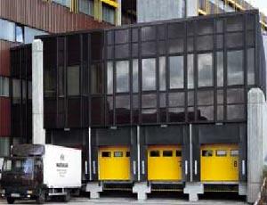 Теплые секционные ворота Hormann ISO-S из стали серии compact для промышленных объектов.