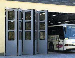 Складные стальные ворота Hormann серии KSM.