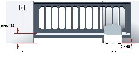 Электро приводы ворот Hormann серии LineaMatic для откатных ворот данные для монтажа