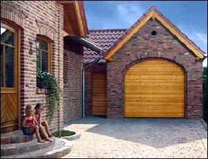Деревянные секционные ворота Hormann LTH 40 гофр типа S