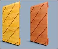 Панели деревянных секционных ворот Hormann серии Design