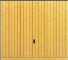 Деревянные подъемно-поворотные ворота Hormann Berry. Деревянная филенка с вертикальным гофром мотив 934.