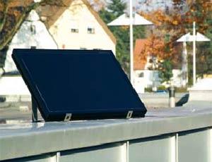 Электро приводы ворот Hormann серии ProMatic Akku: солнечная батарея для зарядки аккумулятора.