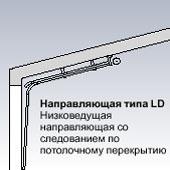 Направляющая типа LD Низковедущая направляющая для секционных ворот Hormann со следованием по потолочному перекрытию