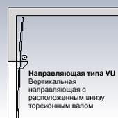 Направляющая типа VU Вертикальная направляющая для секционных ворот Hormann с расположенным внизу торсионным валом