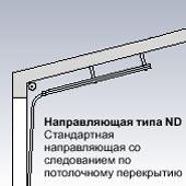 Направляющая типа ND Стандартная направляющая для секционных ворот Hormann со следованием по потолочному перекрытию