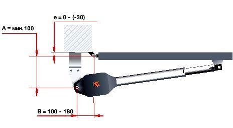 Электро приводы ворот Hormann серии RotaMatic PL для распашных ворот данные для монтажа