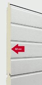Секционные ворота Hormann SPU 40 сэндвич панели